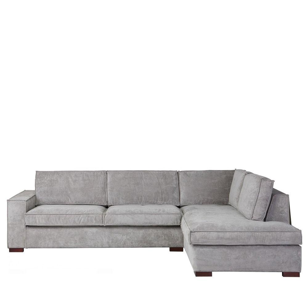 Canapé d angle à droite tissu côtelé Thomas by Drawer