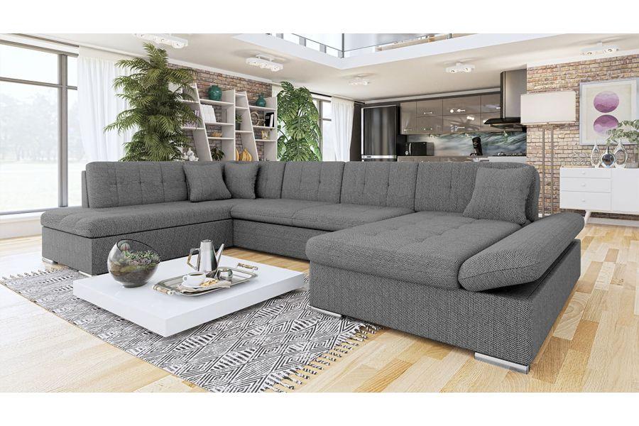 Canapé d angle convertible en U Tissu SURYA chloe design