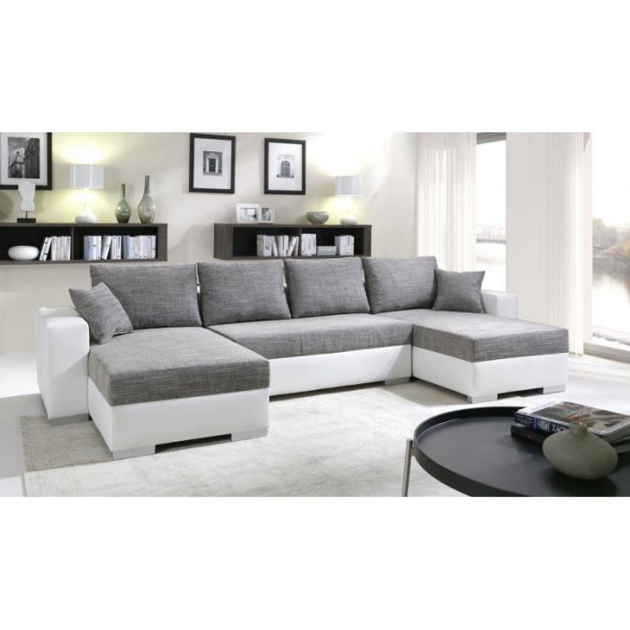 Canapé d angle panoramique convertible ENNO en U design