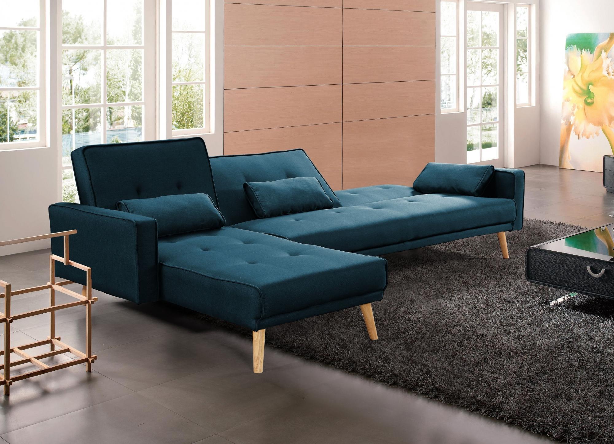 Canapé Tissu Bleu Conception