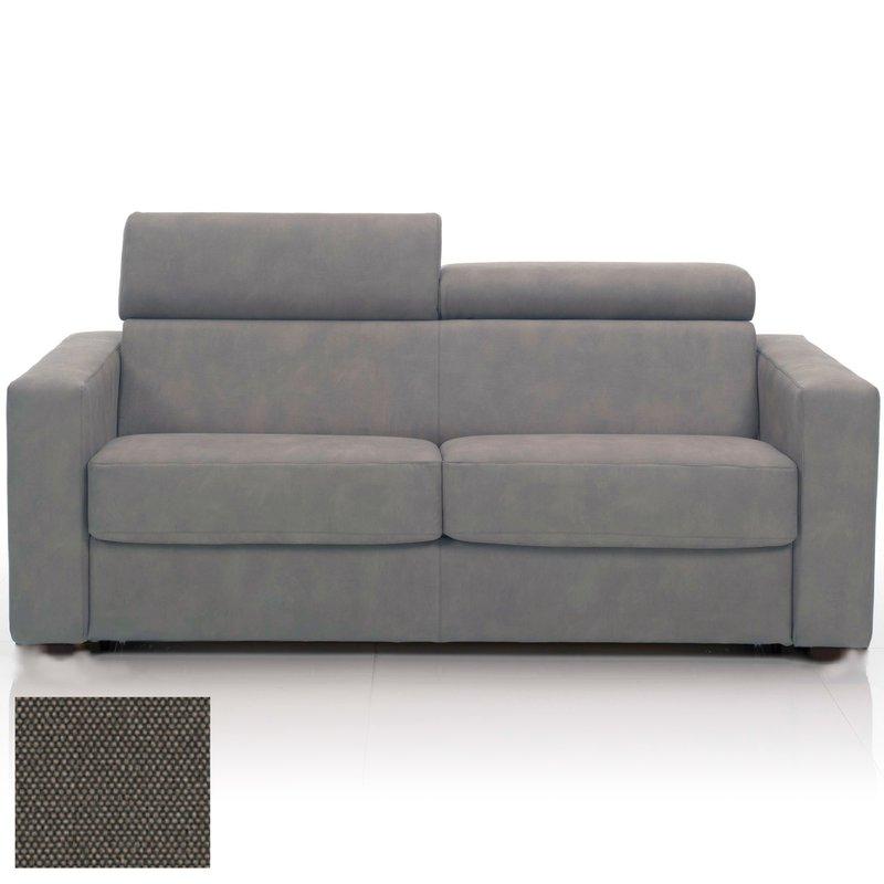 Canapé convertible 3 places tissu déhoussable gris