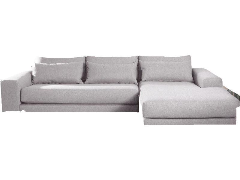 Canapé d angle droit fixe 4 places en tissu déhoussable