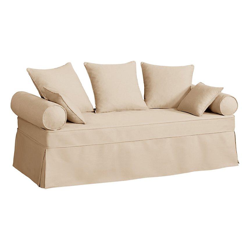 Canapé lit gigogne tissu coton déhoussable Hermitage