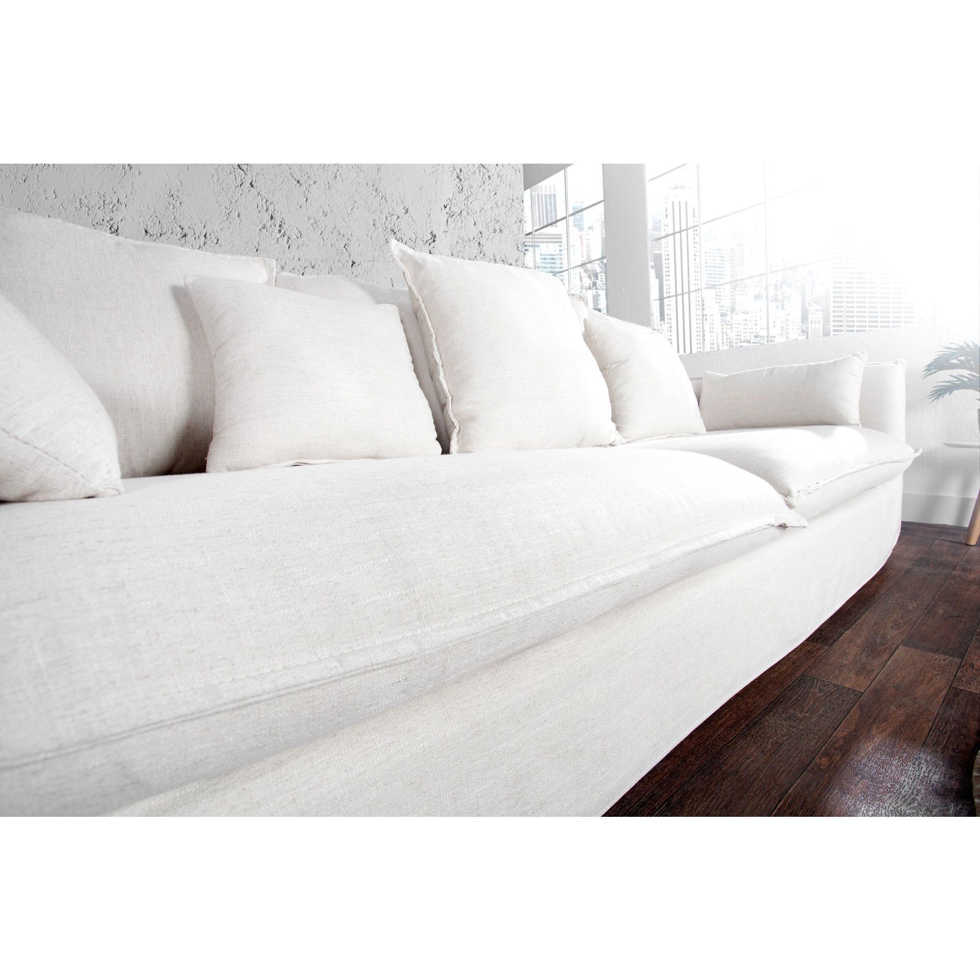 Salon Canapé 3 places moderne en tissu déhoussable