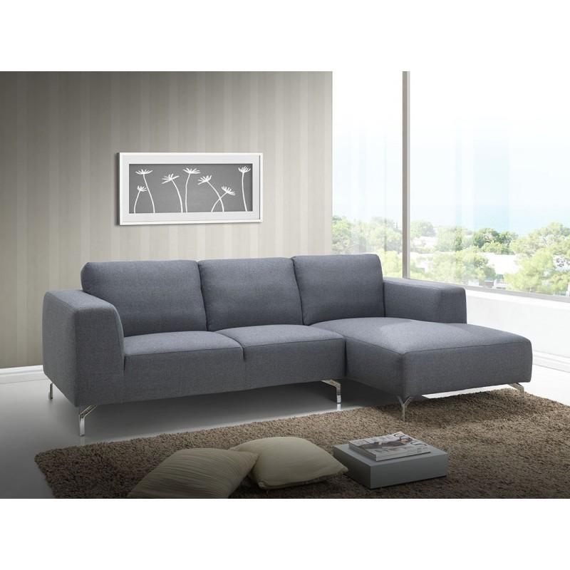 Canapé d angle côté Droit design 4 places avec méri nne