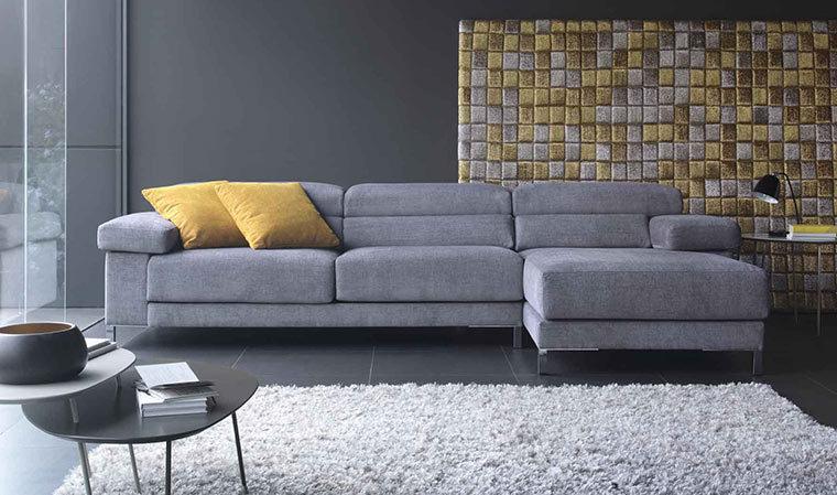 Canapé d angle design en tissu 4 Tissus au choix