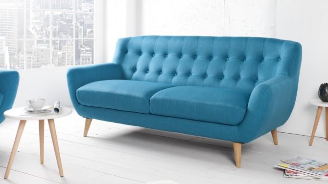 Canapé design 3 places scandinave en tissu coloré Sverker