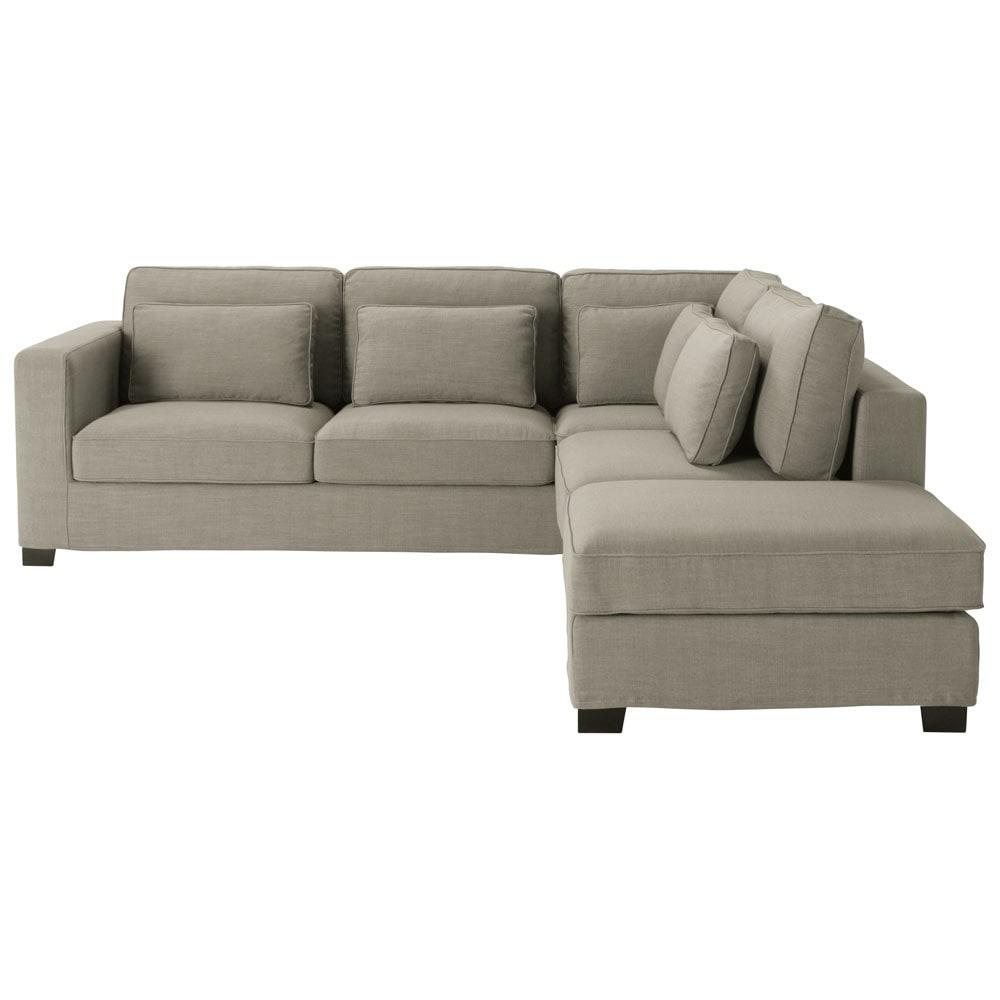 Canapé d angle 5 places en tissu gris Milano
