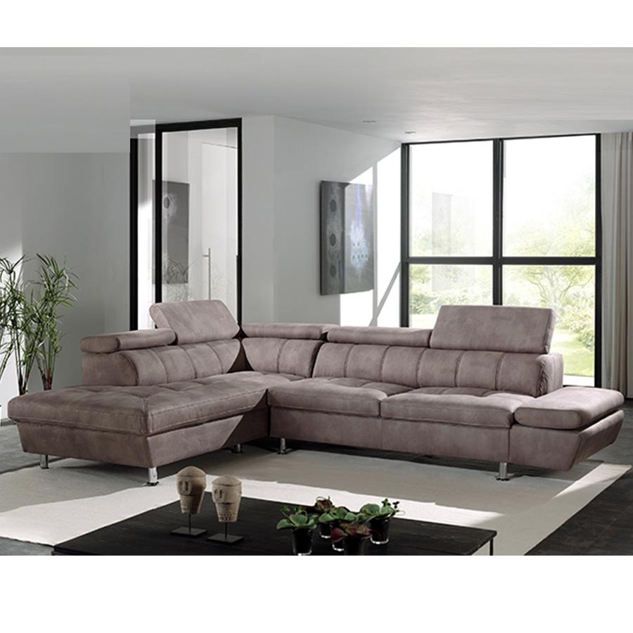 Canapé d angle marron en tissu