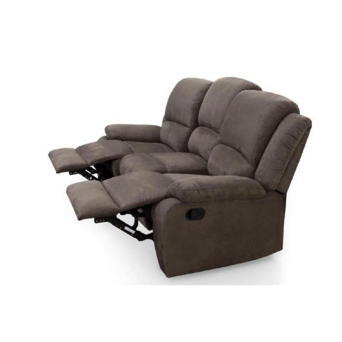 Canapé Tissu Relax Relax Canapé De Relaxation Droit 3 Places 192x92x93 Cm