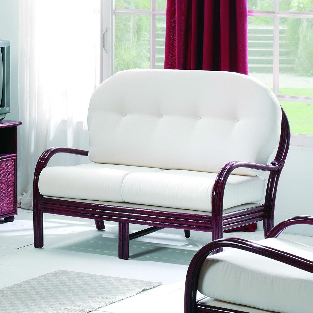 Canapé confortable trois places en rotin Brin d Ouest