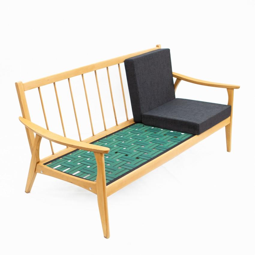 Canapé trois places en bois