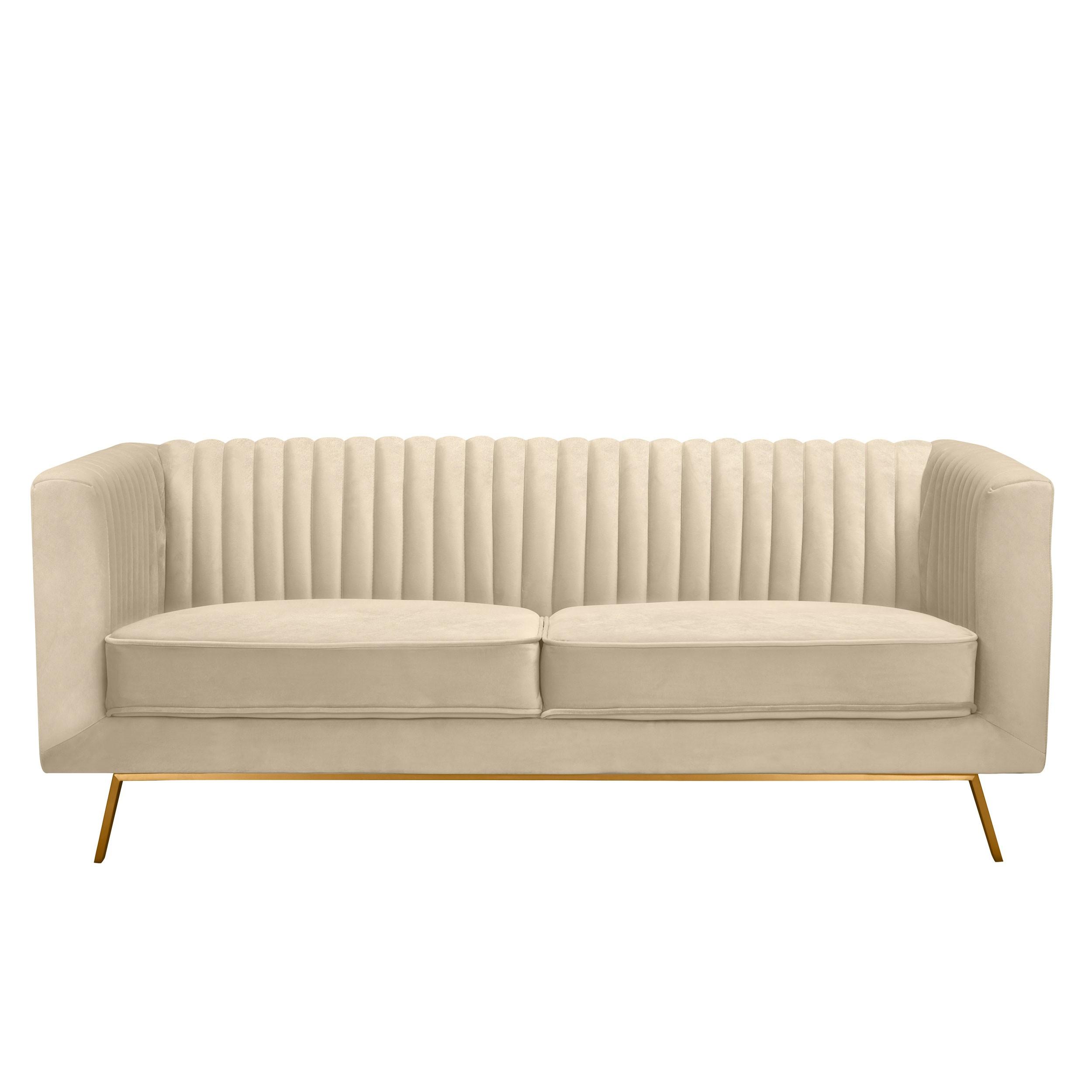 Canapé Gatsby 2 places en velours beige