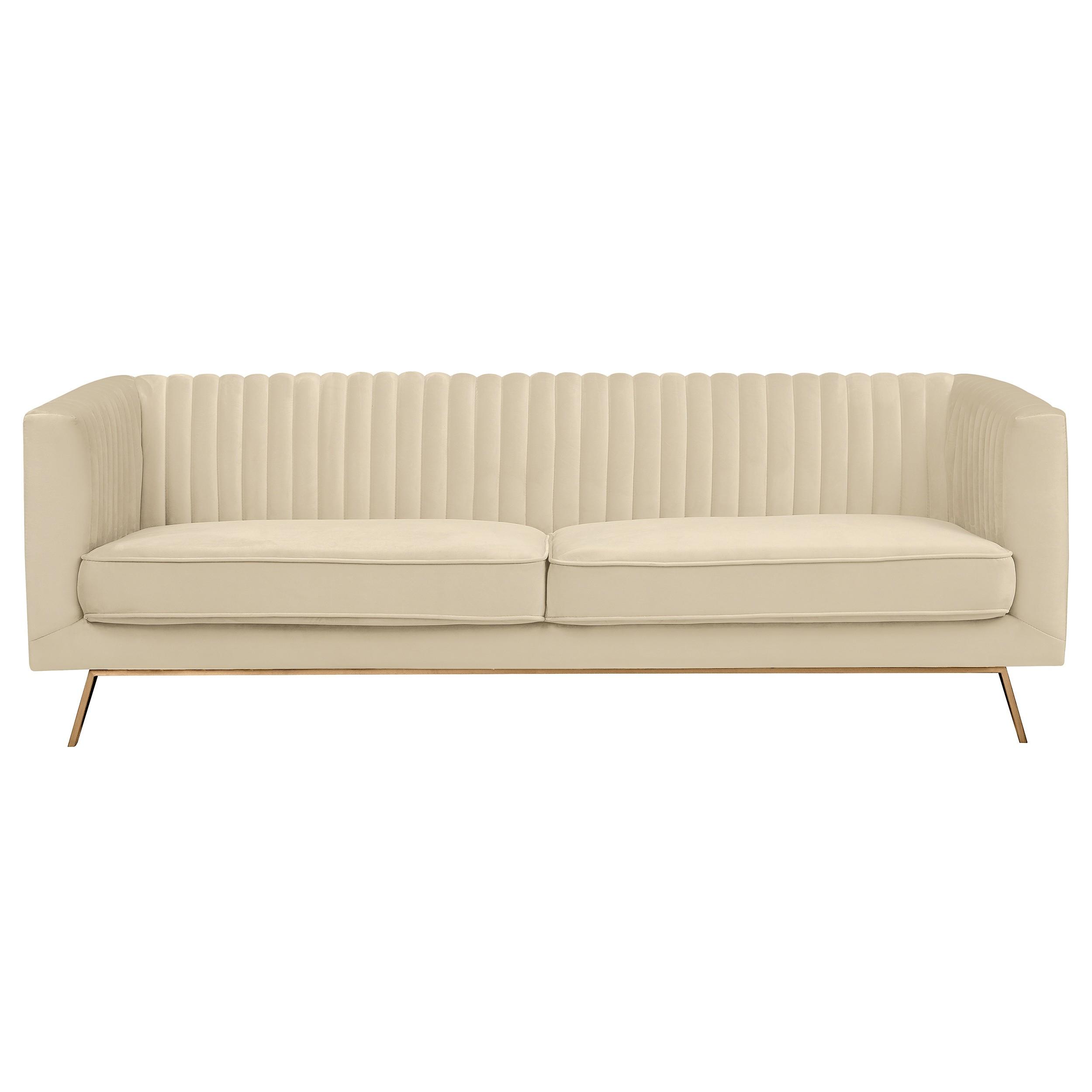 Canapé Gatsby 3 places en velours beige