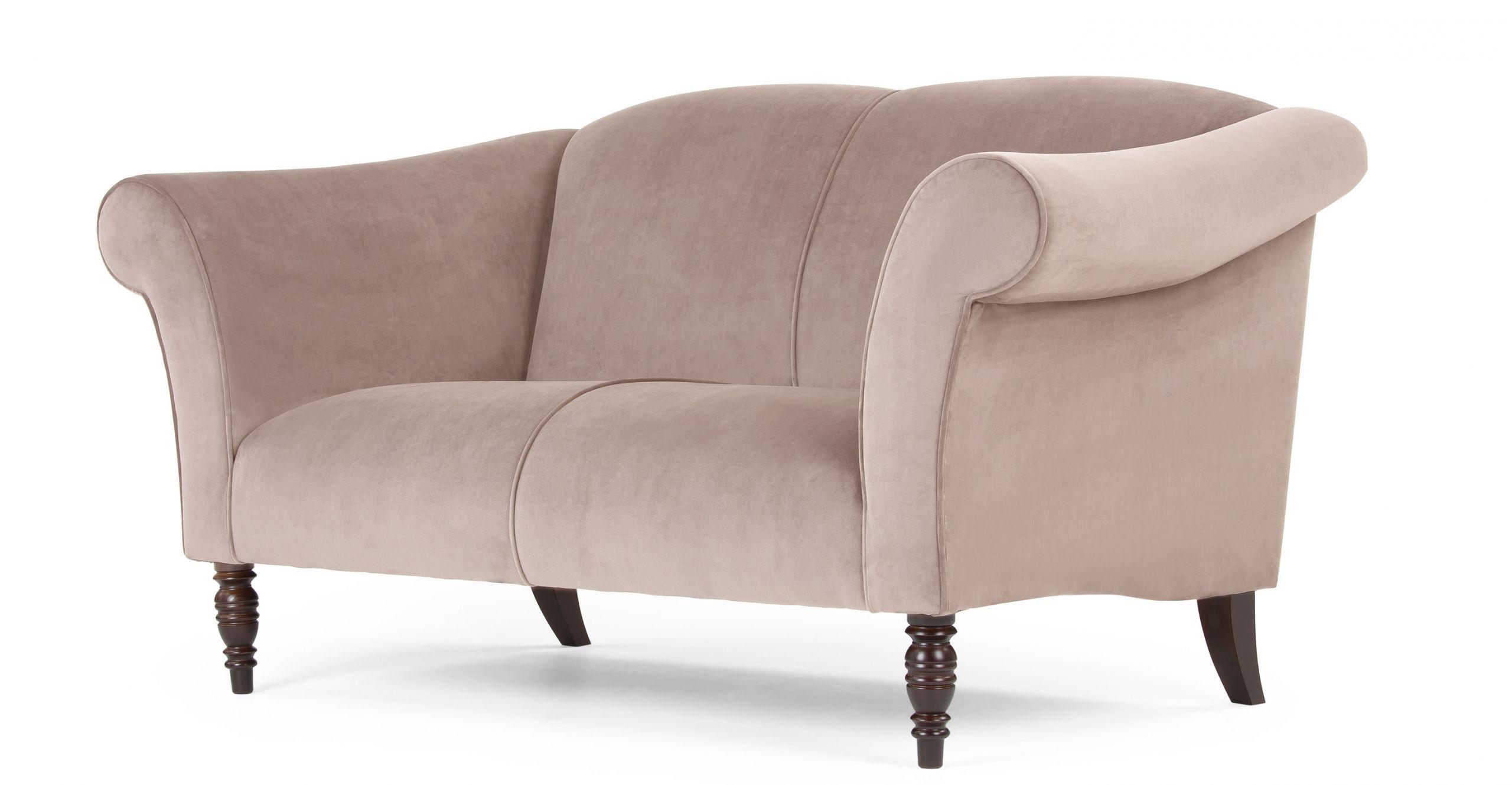 Garston canapé 2 places en velours beige fauve Le Fait