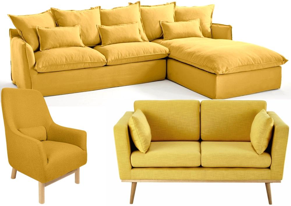 20 fauteuils et canapés jaunes pour le salon Joli Place