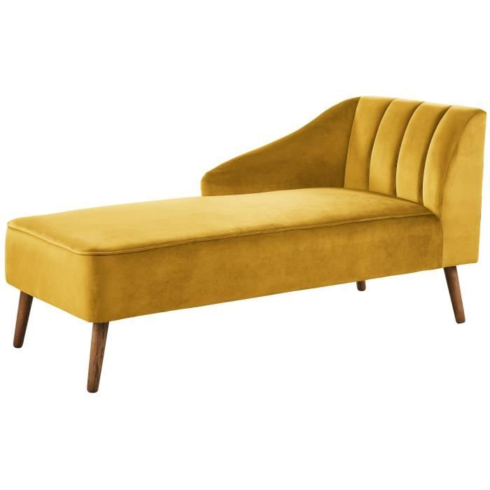 PAULINE Méri nne Velours jaune Vintage L 154 x P