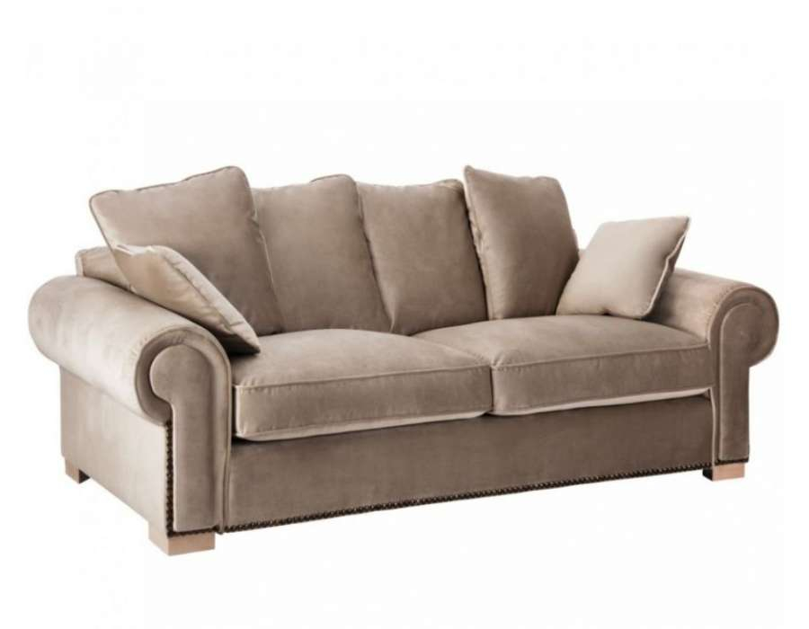 canapé 240 cm taupe colonial vical home
