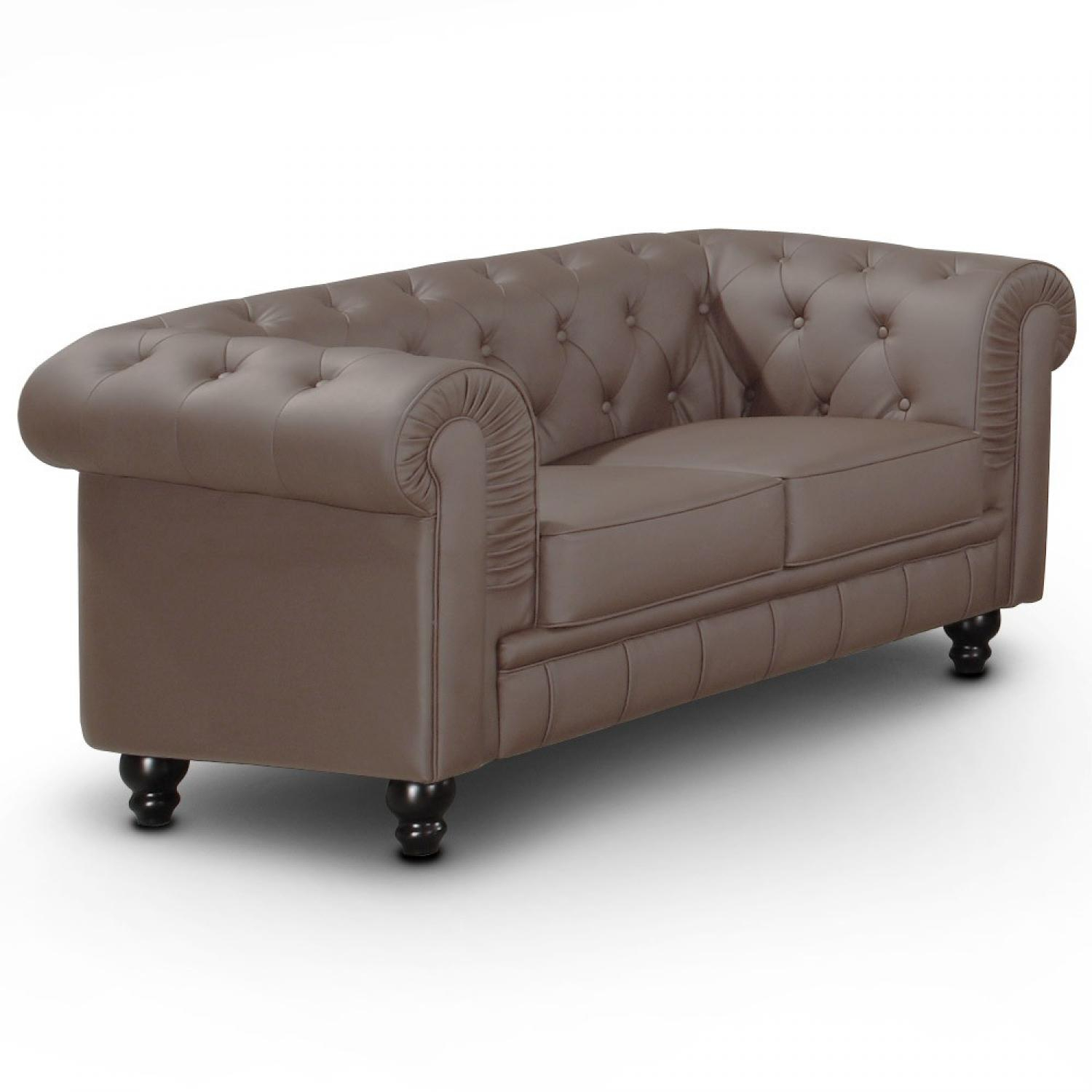 s canapé chesterfield velours taupe