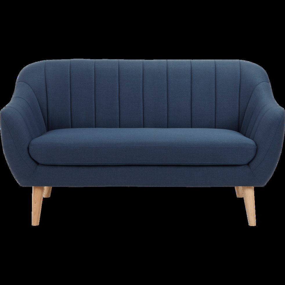 Canapé 2 places fixe en tissu bleu foncé SHELL canapés