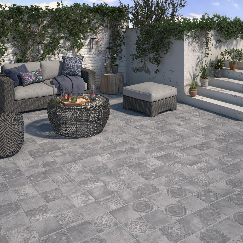 Salon De Jardin Carreau De Ciment carreau ciment exterieur carrelage sol extérieur forte effet