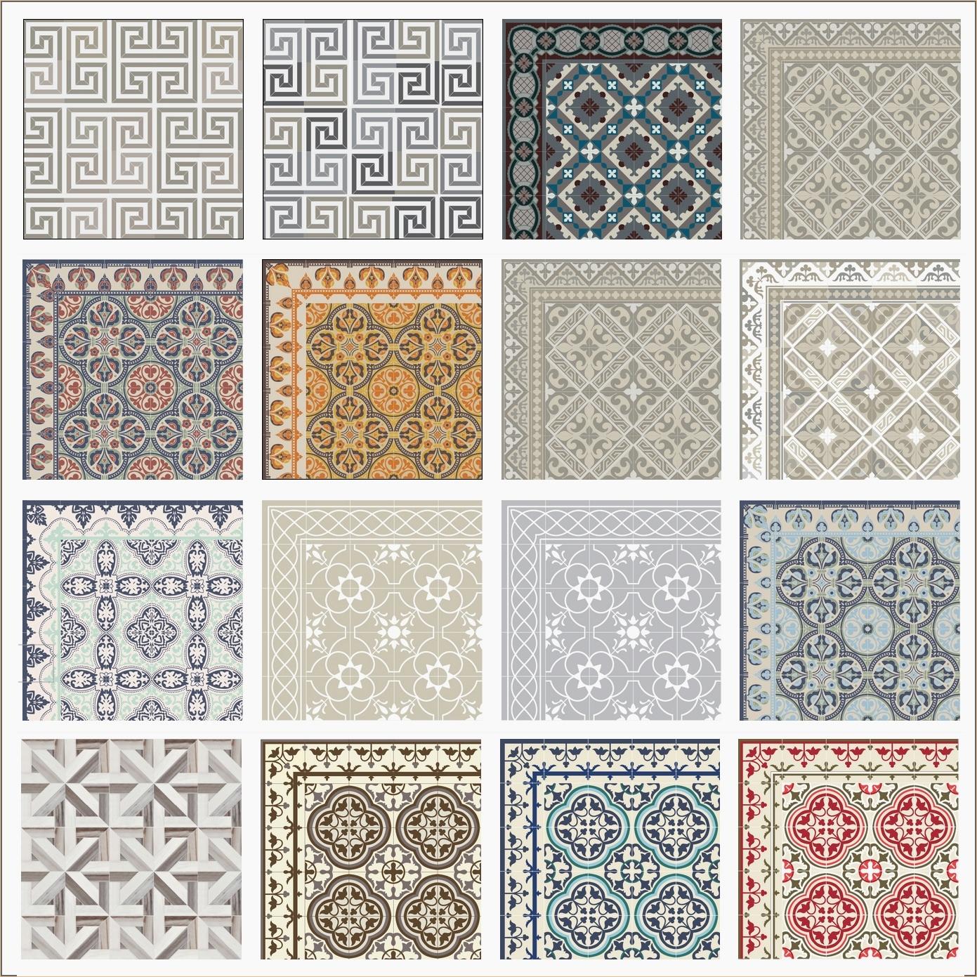 Tapis Imitation Carreaux De Ciment Vinyle carreau ciment pas cher des idées | idees conception jardin