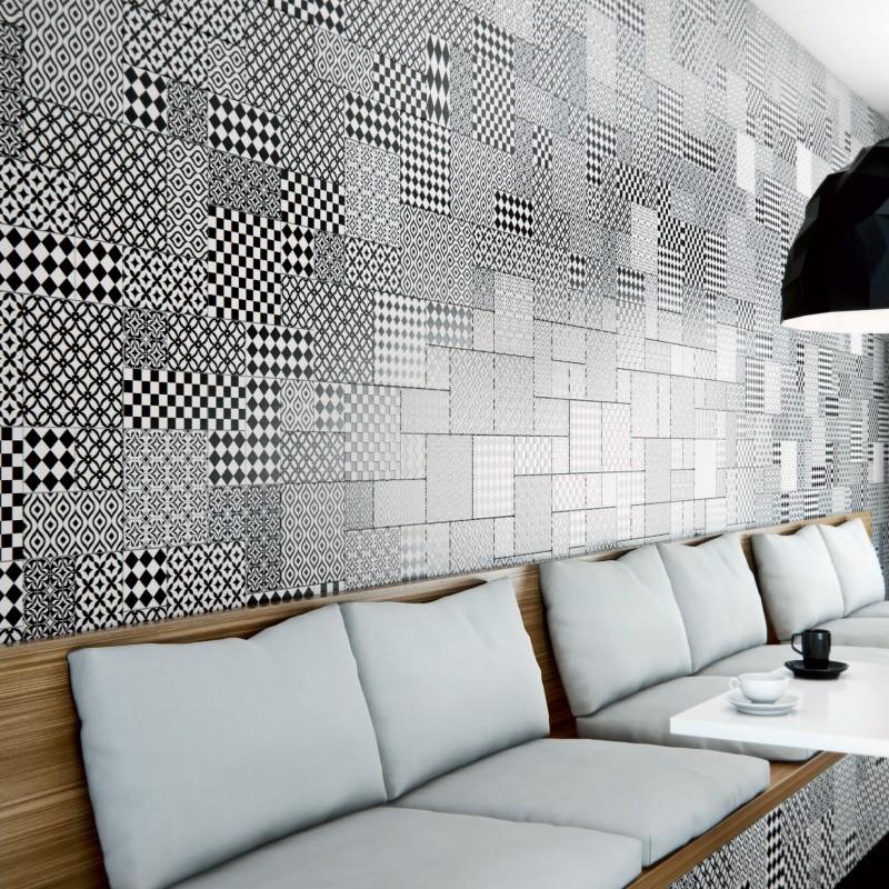 Carrelage sol et mur aspect carreau ciment Vintage Lucca Decor