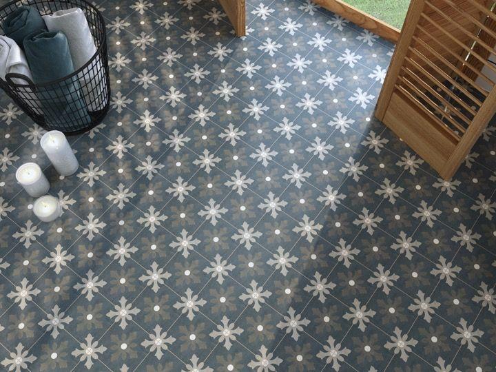 MARTIA 15X15 Carrelage de sol aspect carreaux de ciment