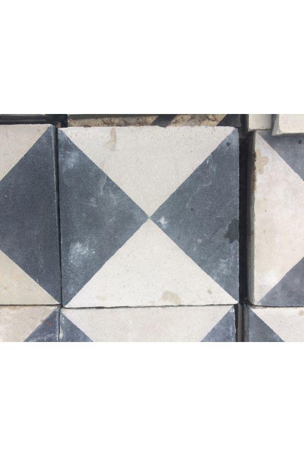 carreau de ciment ancien restauré motif géométrique