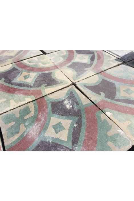 Carreaux de ciment anciens de recuperation datant des