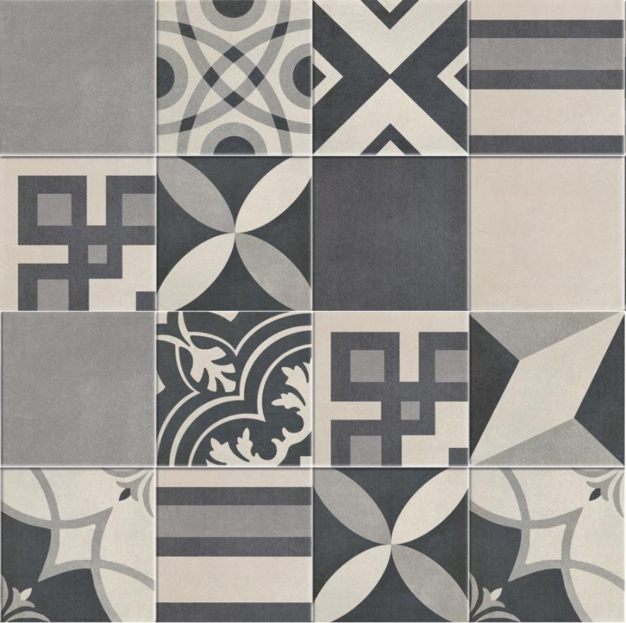 Carrelage imitation anciens carreaux de ciment décor