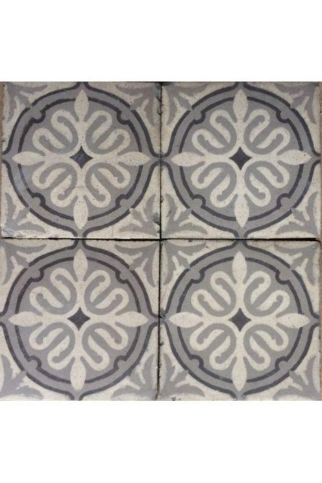 Magnifiques carreaux de ciment anciens dans les tonalités