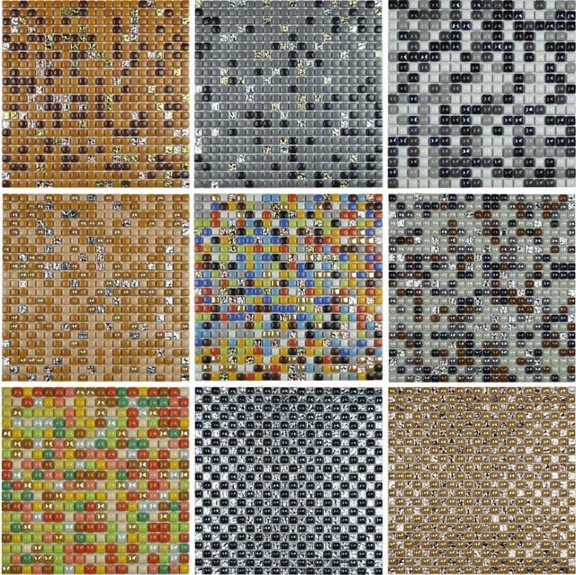 10 couleurs disponibles coloré mini carrelage mosaïque en