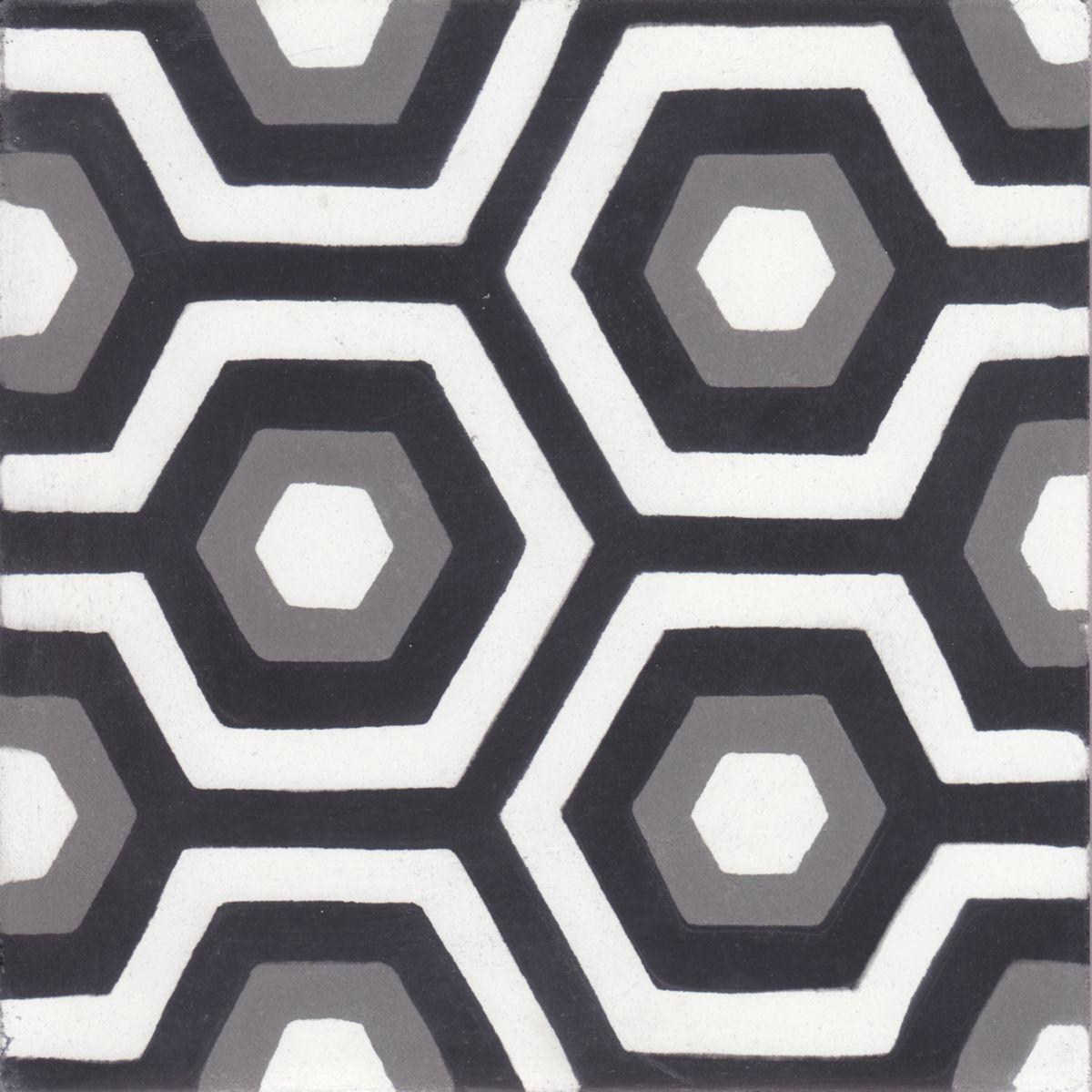 Carreau Ciment Diffusion Ceramique Joséphine décor 20x20cm