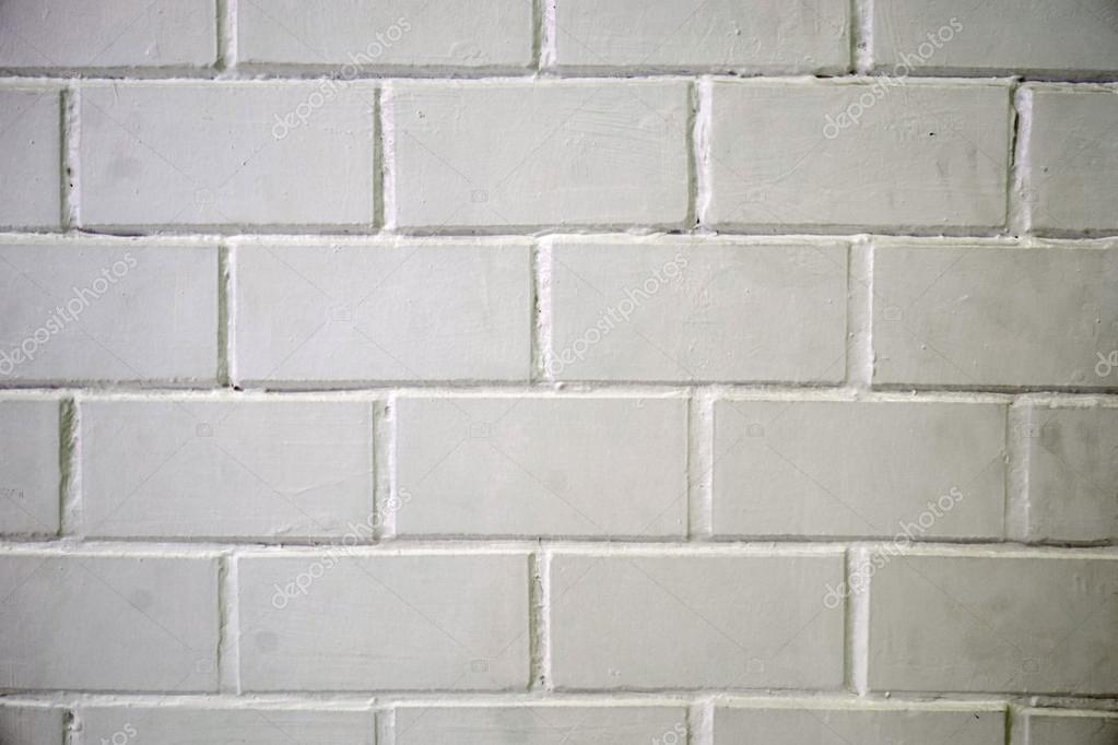 Mur de carreaux de brique en céramique blanc fond
