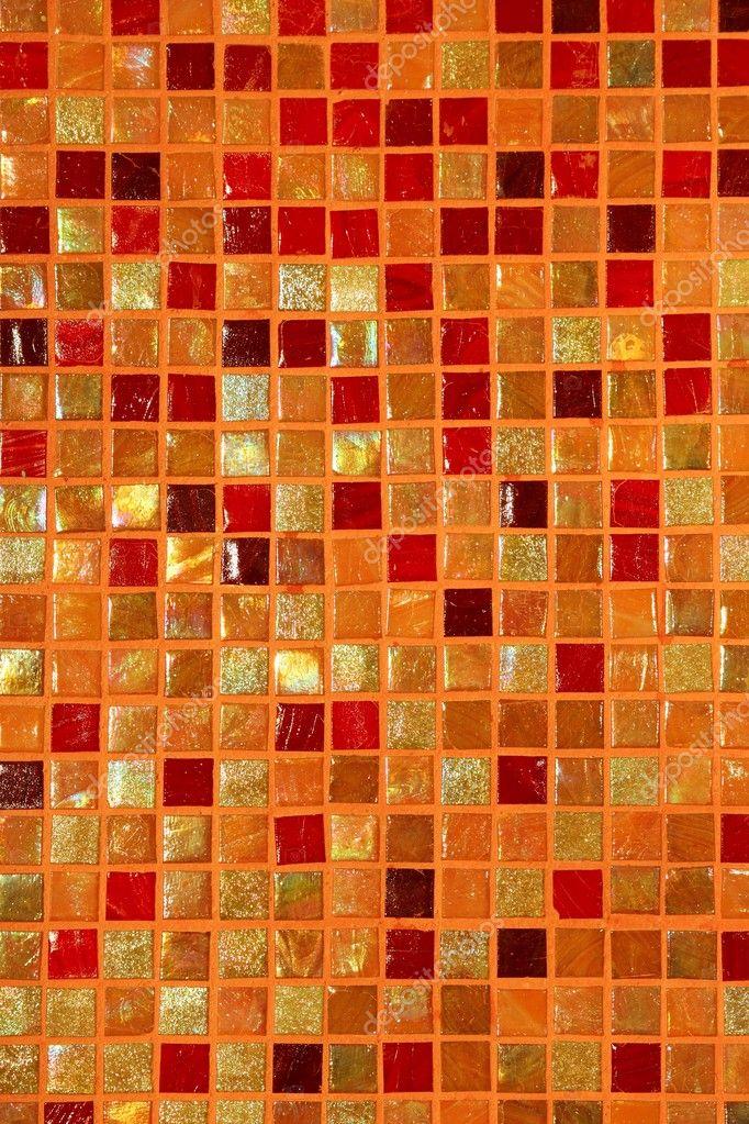 position de la mosaïque de carreaux de céramique verre