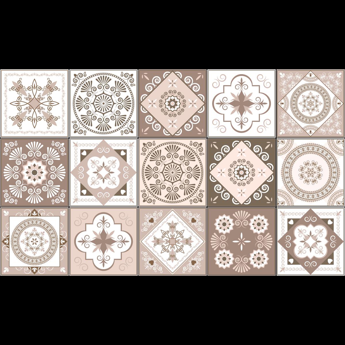 15 Stickers carreaux de ciment Ezeiza – SALLE DE BAIN ET
