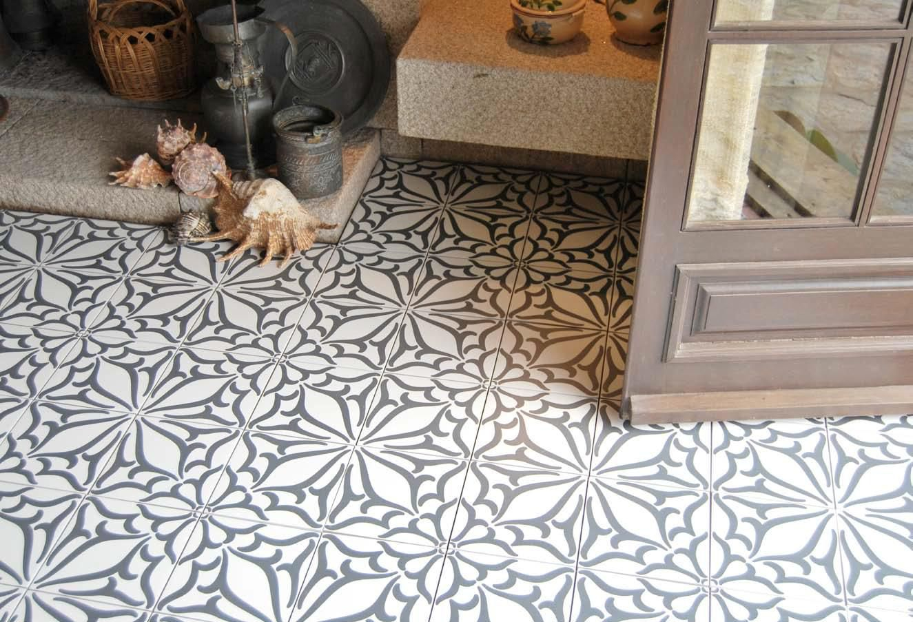 carrelage aspect carreau ciment KRocim Decor Classic Noir