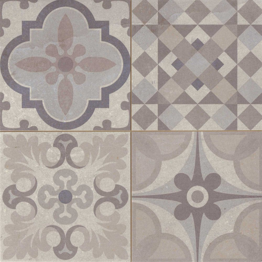 Carrelage style ciment gris taupe SKYROS 44x44 cm As de