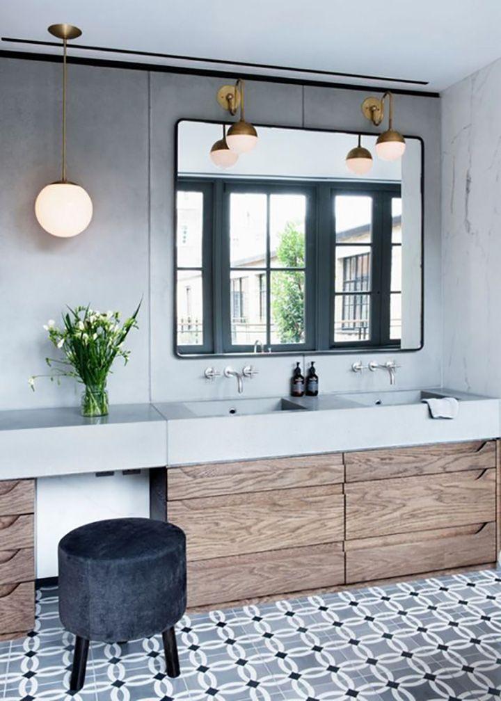 tendance sol salle de bain carreaux de ciment FrenchyFancy