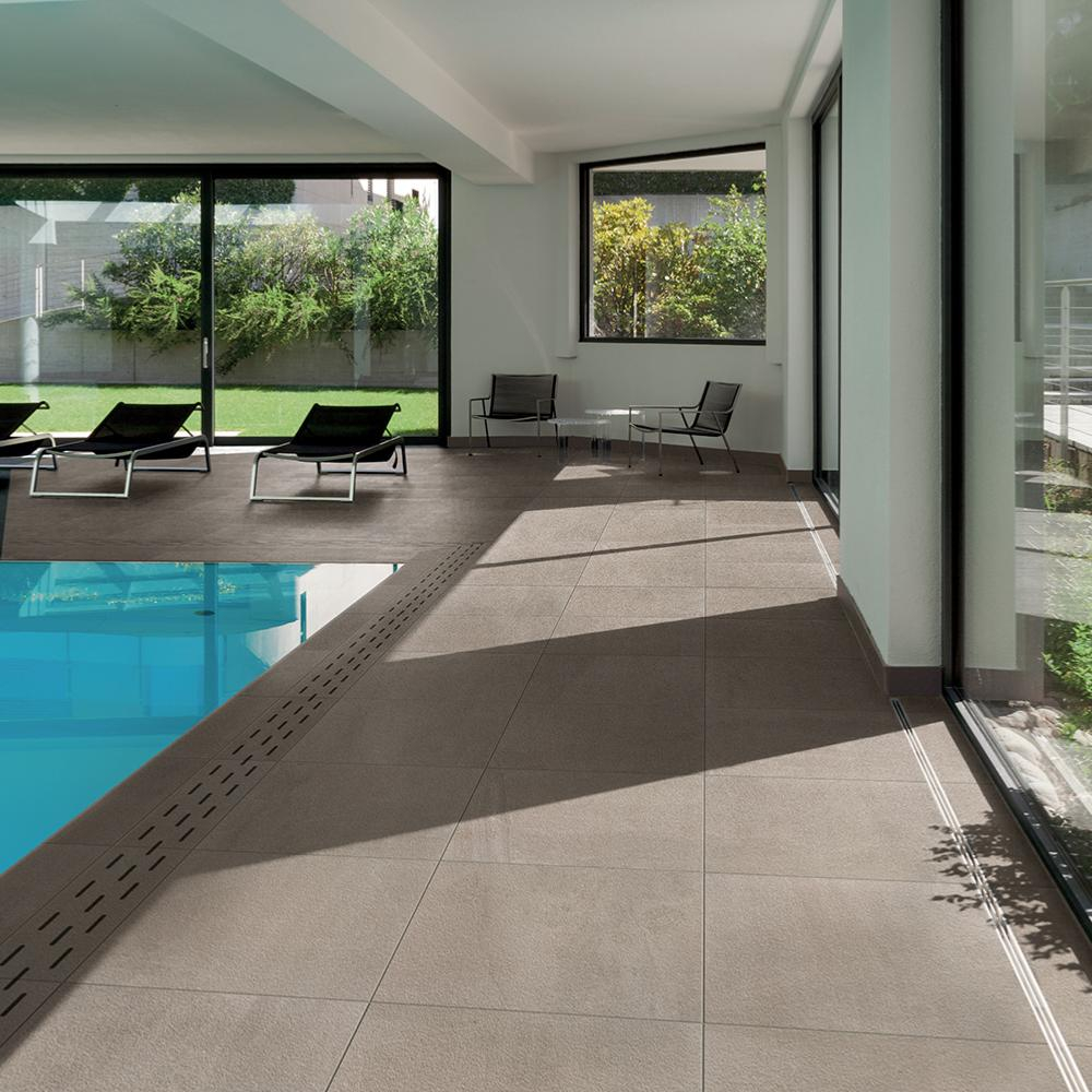 Carrelage imitation pierre extérieur 60x60 Piacentina Grip