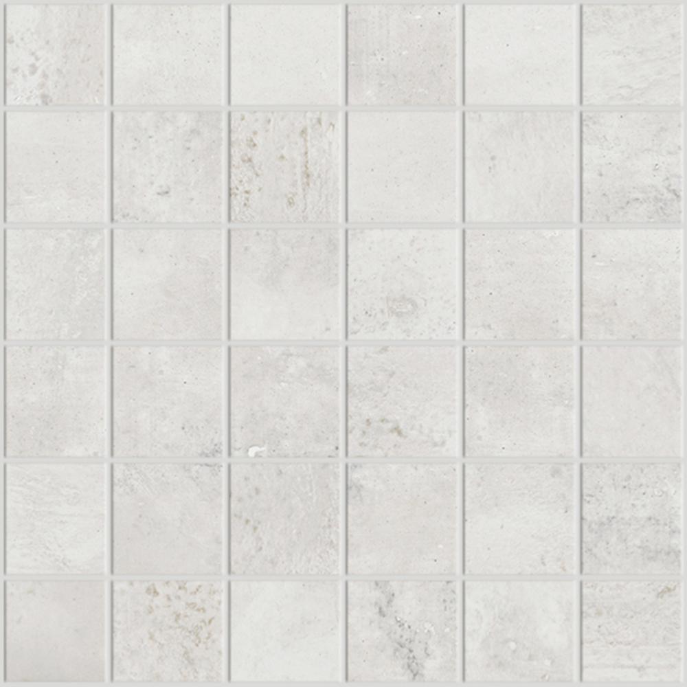 Carrelage Blanc 30x30 Mosaïque Effet Béton Usé 30x30 Blanc Collection E De