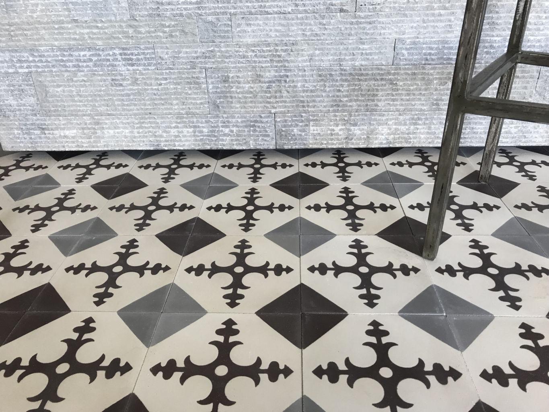 Carreaux de ciment style ancien Finition vieillie