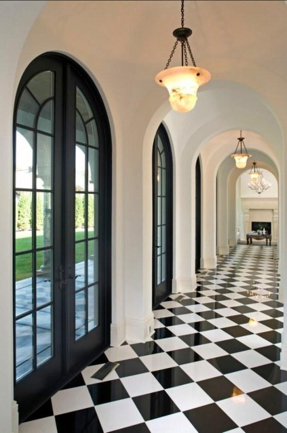 Couloir noir et blanc 5 idées pour créer la surprise