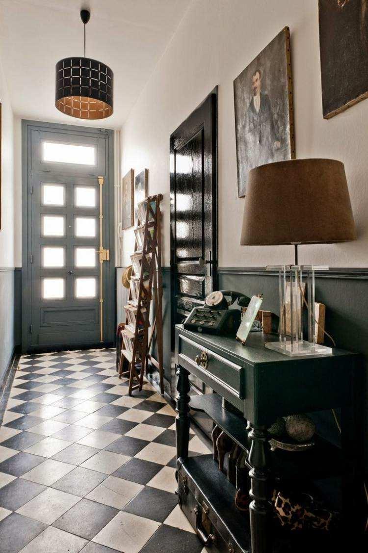 Carrelage original couloir et carreaux de ciment