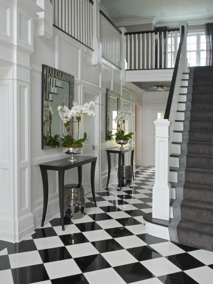 Le carrelage damier noir et blanc en 78 photos Archzine