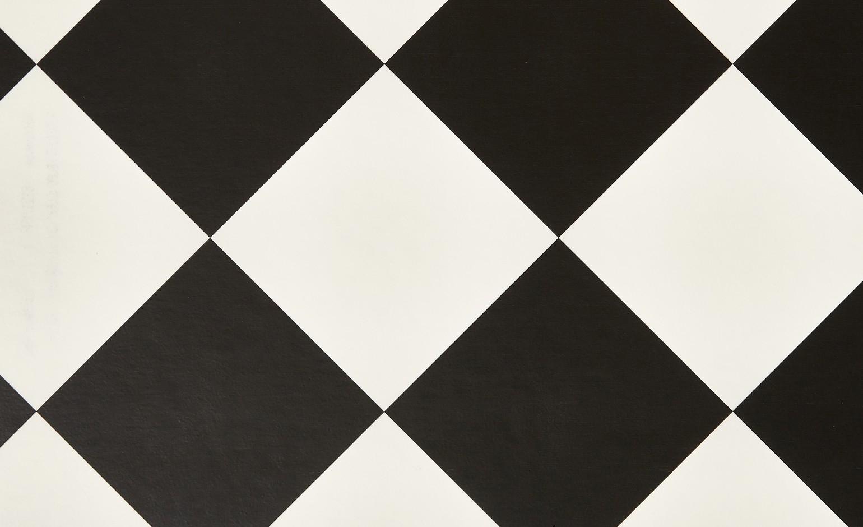 Sol vinyle BUBBLEGUM carrelage damier noir et blanc