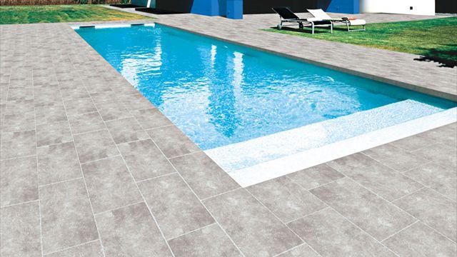 Carrelage terrasse piscine Castorama