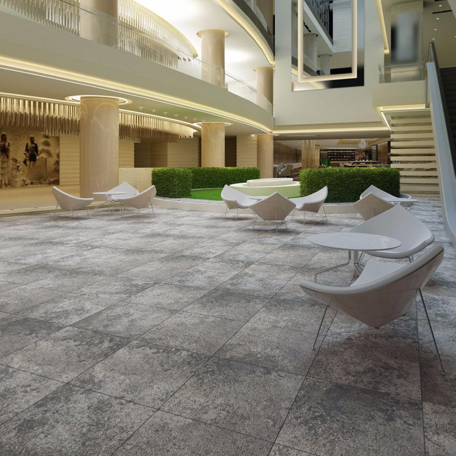 BETON carrelage intérieur sol et mur 60x60 GRIS FONCE