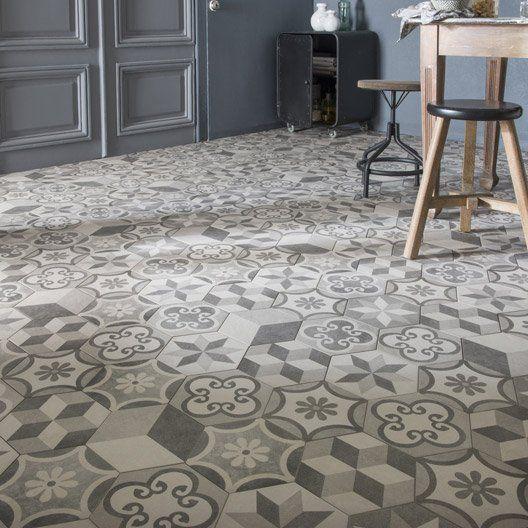 carrelage sol et mur gris blanc effet beton time l 18 2 x